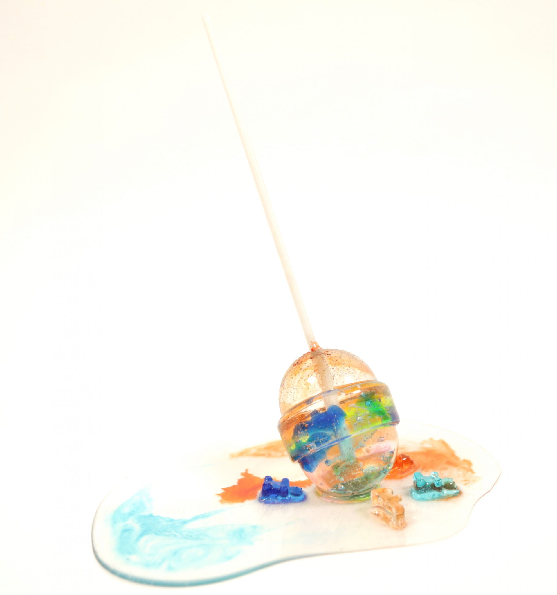 © Betsy Enzensberger Gummi Bear Lollipop 2017 Resin
