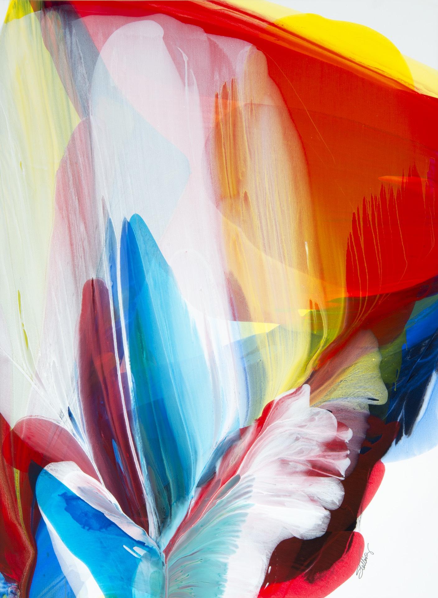"""SEA FLOWER – 40"""" x 54"""" – Acrylic © Linda Stelling"""
