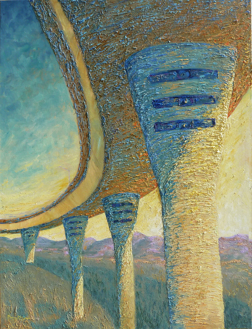 Pillars of Light © Nancy R Wise