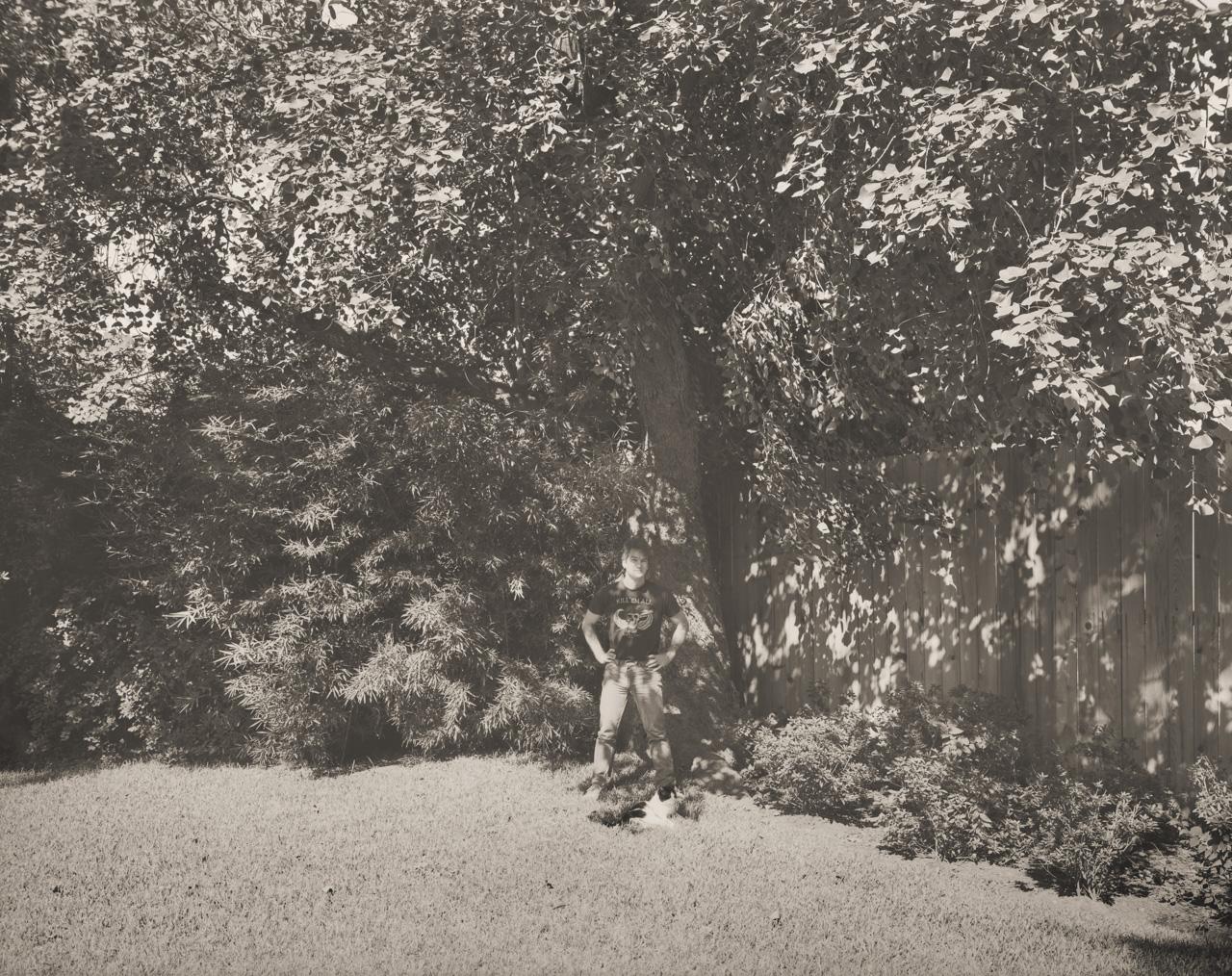Terry Elkins In Wanda Alexander's Backyard © E.F. Kitchen