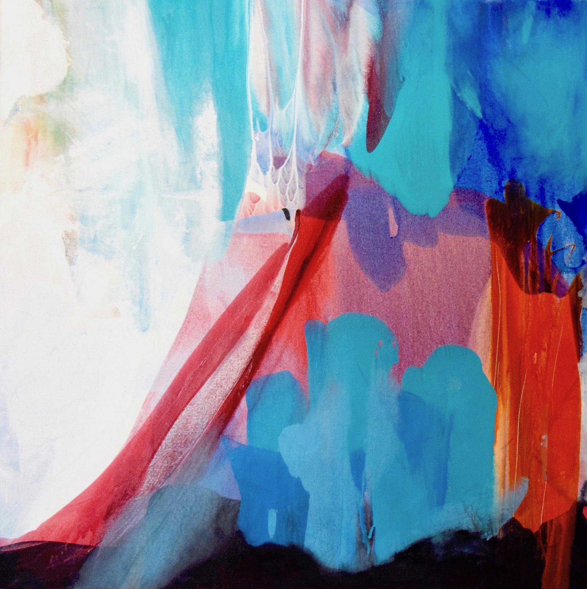 "CRYSTAL CAVE – 36"" x 36"" – Acrylic © Linda Stelling"