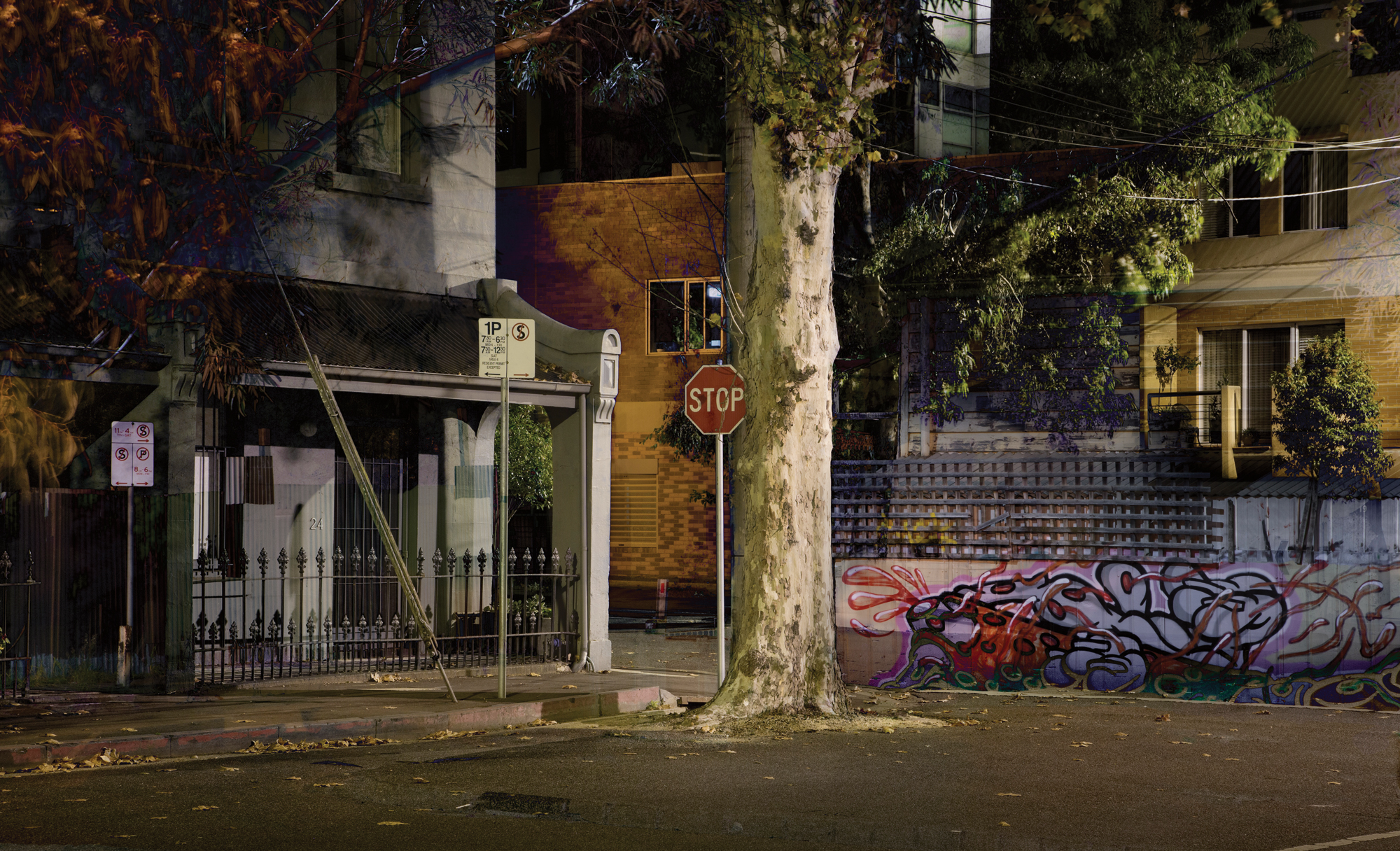 "You've Been Told 2017 Image size 48.77 X 29.64cm, 19.2"" 11.67"" Combination of two images shot in Brunswick and North Melbourne. Archival digital print on Canson Platine rag. Edition of ten. Signed and numbered on print margin with certificate attached to rear of frame. © Christopher Sheils"