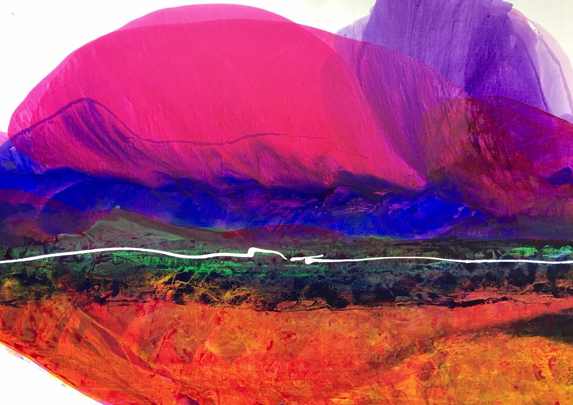 "SANTA FE – 66"" x 46"" – Acrylic © Linda Stelling"