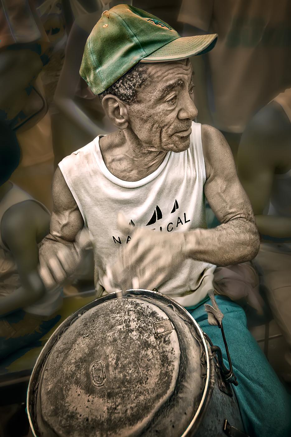 Drumming For Saint Lazaro 3/15 © EK Waller