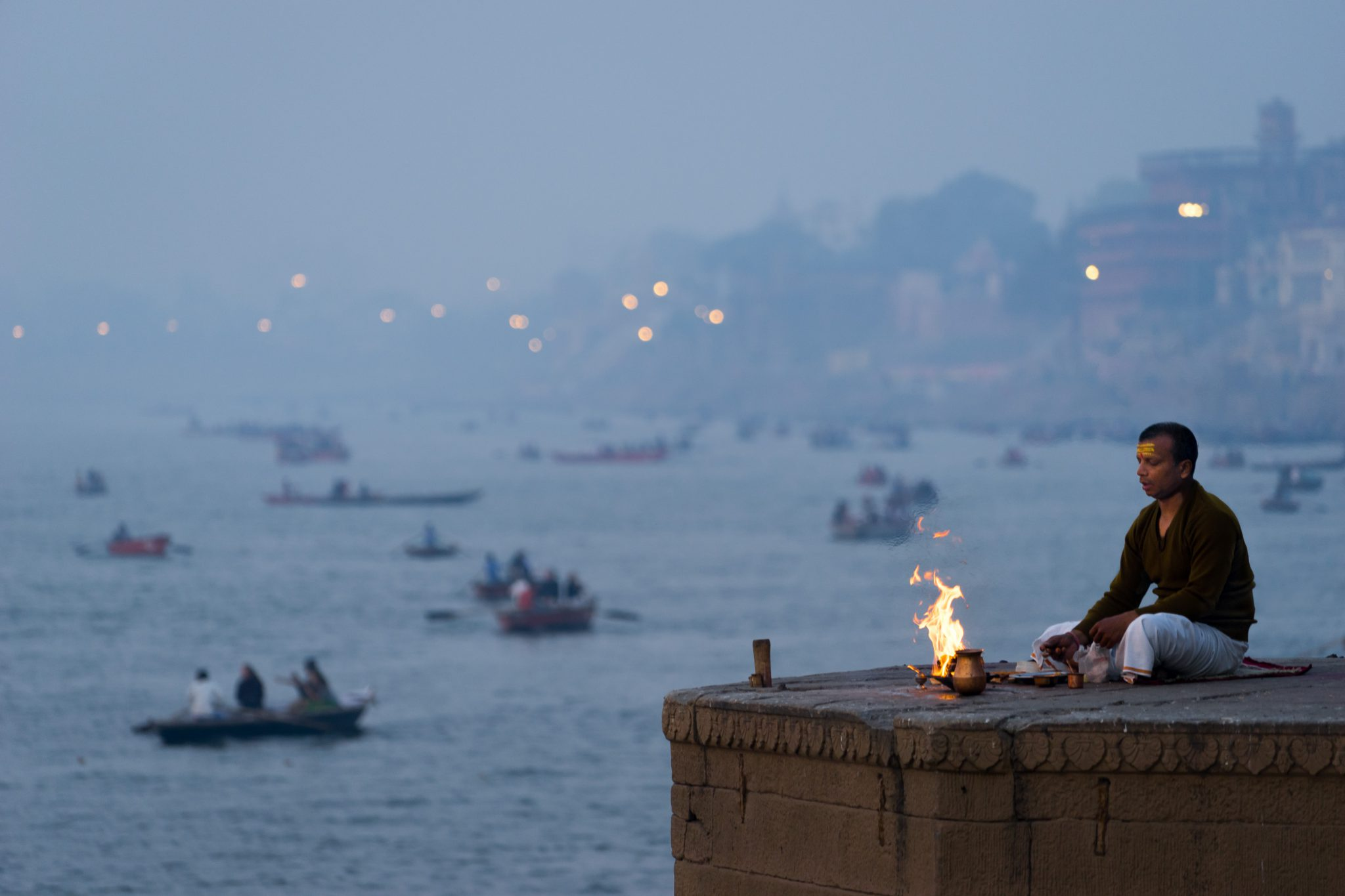 Morning On The Ganges, Varanasi, India