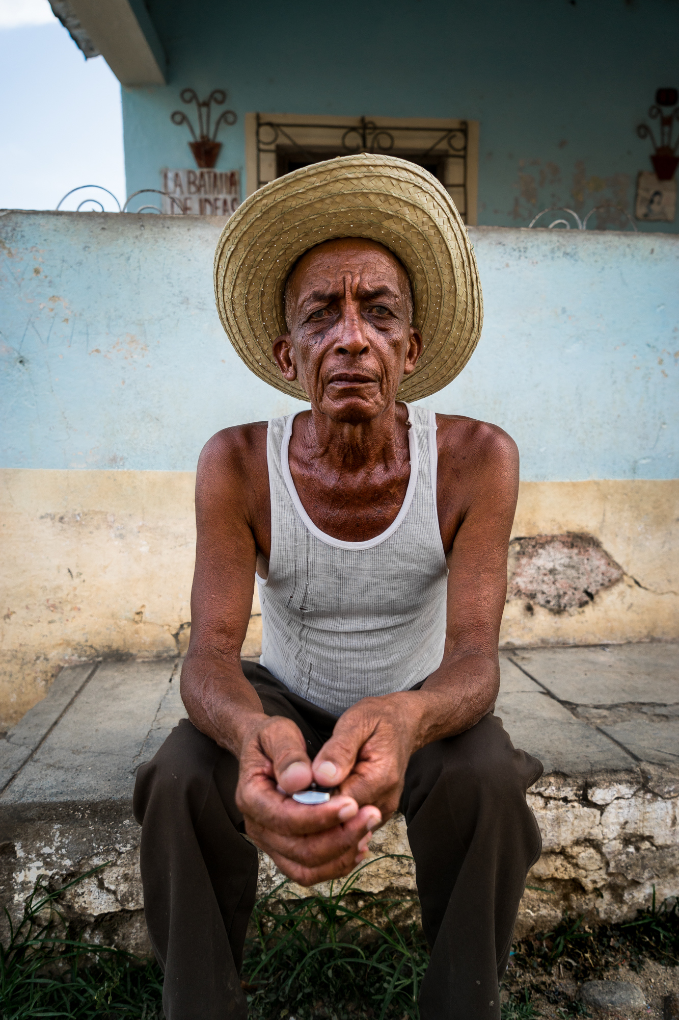 Portrait of Man in Hat, Trinidad, Cuba