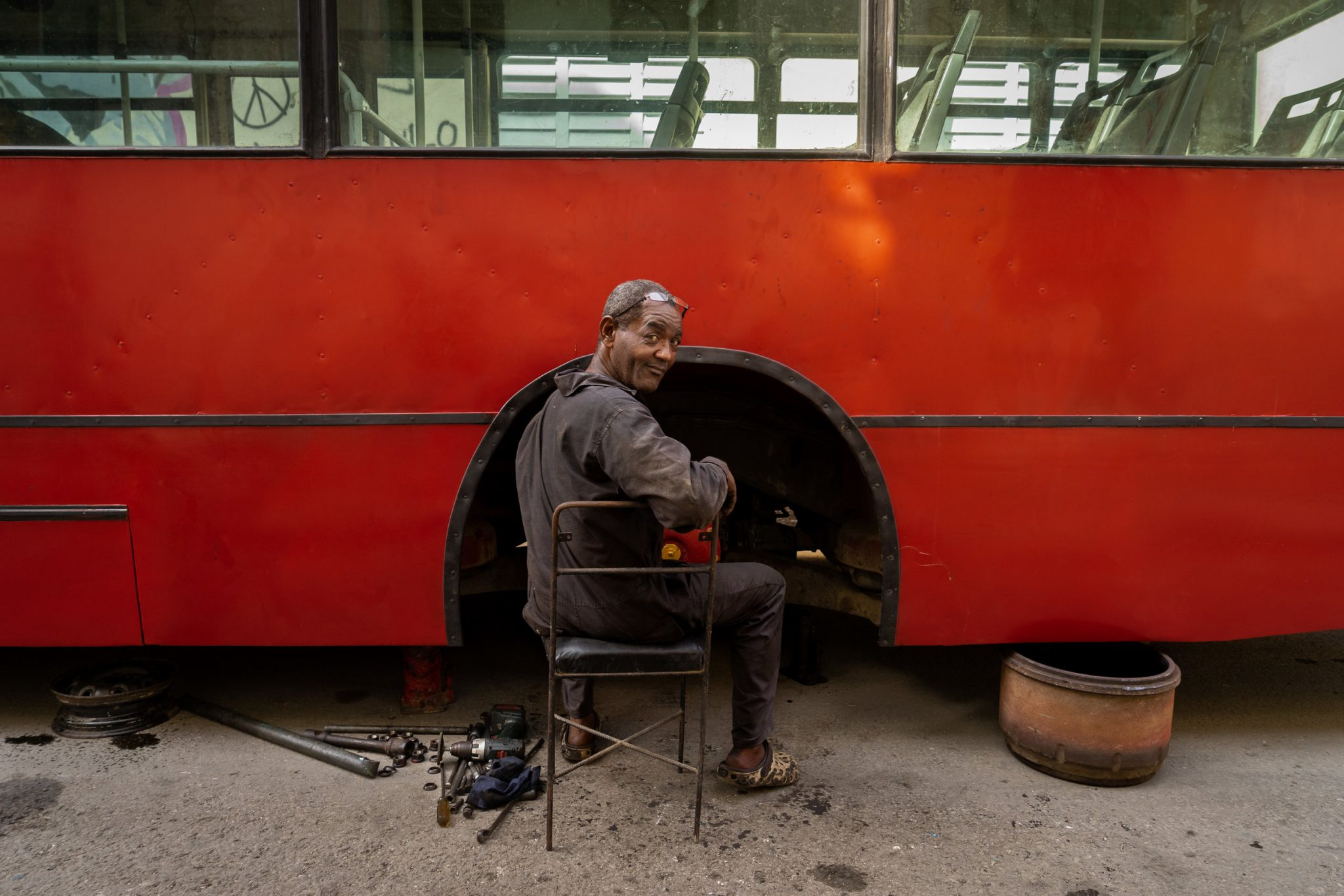 Bus Mechanic © Brandon Kusher
