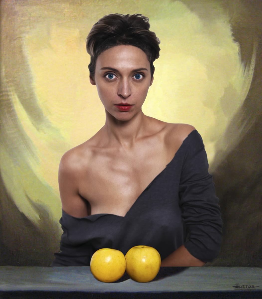 Mujer con las Manzanas